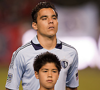 Sporting KC forward Omar Bravo. Sporting KC defeated CD Chivas USA 3-2 at Home Depot Center stadium in Carson, California on Saturday March 19, 2011...