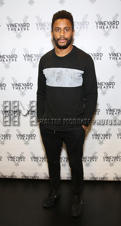 "Nnamdi Asomugha attends the Cast photo call for the Vineyard Theatre production of ""Good Gfief"" on September 12, 2018 at the Vineyard Theatre in New York City."