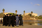 Israel, Tel Aviv, Tashlich ceremony of the Premishlan congregation by the Yarkon River