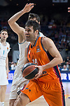 Real Madrid Santiago Yusta and Valencia Basket Fernando San Emeterio during Turkish Airlines Euroleague match between Real Madrid and Valencia Basket at Wizink Center in Madrid, Spain. December 19, 2017. (ALTERPHOTOS/Borja B.Hojas)