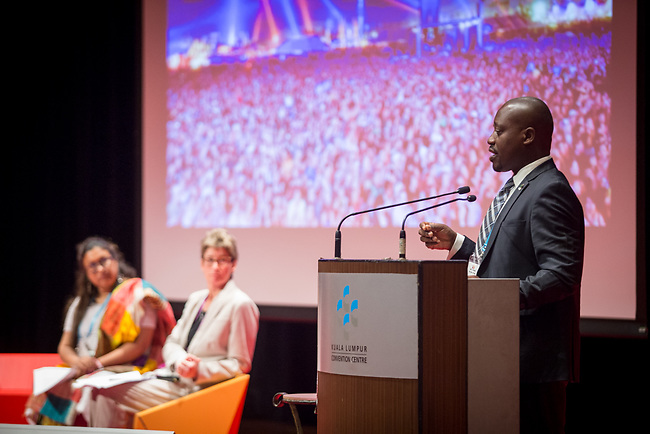 25 June, 2018, Kuala Lumpur, Malaysia : Barima Akwasi Amankwaah speaks at the Confronting the tensions between empowerment and protection session at the Girls Not Brides Global Meeting 2018 at the Kuala Lumpur Convention Centre. Picture by Graham Crouch/Girls Not Brides
