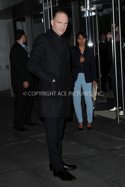 WWW.ACEPIXS.COM<br /> November 5, 2013...New York City<br /> <br /> Ralph Fiennes attends The Museum of Modern Art Film Benefit: A Tribute to Tilda Swinton reception at Museum of Modern Art on November 5, 2013 in New York City.<br /> <br /> <br /> Byline: Kristin Callahan/Ace Pictures<br /> <br /> ACE Pictures, Inc.<br /> tel: 646 769 0430<br />       212 243 8787<br /> e-mail: info@acepixs.com<br /> web: http://www.acepixs.com
