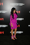 "Recording Artist and VH1 Love & Hip Hop's K. Michelle in  Long Sleeve Berry Mesh dress by Jean Paul Gaultier and Kate Spade satin bicolor heels Attends VH1 Original Movie ""CrazySexyCool: The TLC Story"" Red Carpet Premiere Held at AMC Loews Lincoln Square, NY"