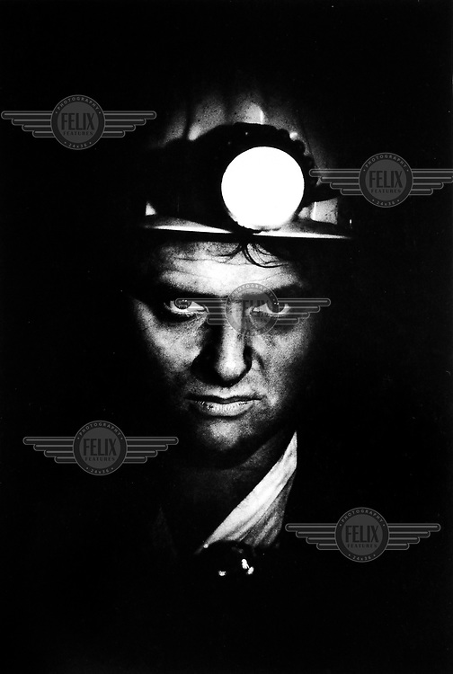 Alex, a miner at a coal mine in the Dombas region.