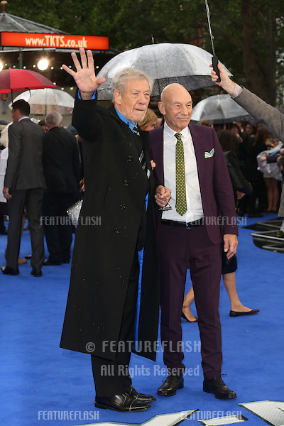 Sir Patrick Stewart, Sir Ian McKellen at X-Men: Days Of Future Past - UK film premiere<br /> London, England. 12/05/2014 Picture by: Henry Harris / Featureflash