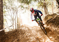 Picture by Alex Broadway/SWpix.com - 09/09/17 - Cycling - UCI 2017 Mountain Bike World Championships - Downhill - Cairns, Australia - Joe Parfitt of Great Britain in action during a practice session.