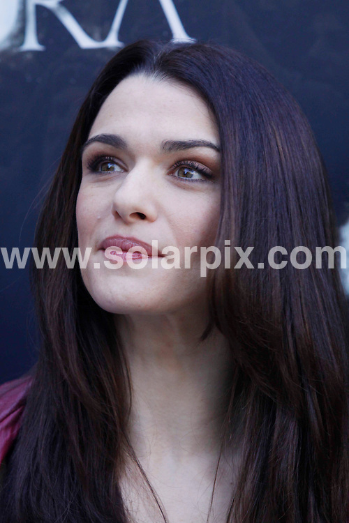 "**ALL ROUND PICTURES FROM SOLARPIX.COM**.**WORLDWIDE SYNDICATION RIGHTS EXCLUDING SPAIN - NO PUBLICATION IN SPAIN**.Photocall for the film ""Agora"", with actors and the director, Madrid, Spain. 6 October 2009.This pic: Rachel Weisz..JOB REF: 10070 MCT       DATE: 06_10_2009.**MUST CREDIT SOLARPIX.COM OR DOUBLE FEE WILL BE CHARGED**.**MUST NOTIFY SOLARPIX OF ONLINE USAGE**.**CALL US ON: +34 952 811 768 or LOW RATE FROM UK 0844 617 7637**"