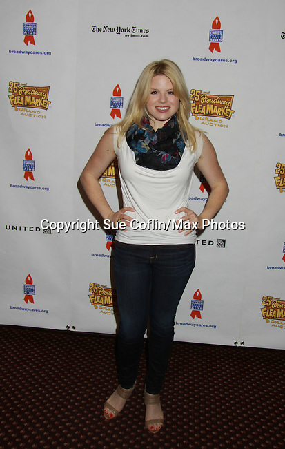Megan Hilty (Desperate Housewives & Smash) attends the 25th Annual Broadway Flea Market & Grand Auction to benefit Broadway Cares/Equity Fights Aids on September 25, 2011 in New York City, New York.  (Photo by Sue Coflin/Max Photos)