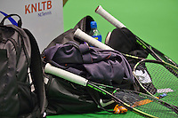 Rotterdam,Netherlands, December 15, 2015,  Topsport Centrum, Lotto NK Tennis, rackets<br /> Photo: Tennisimages/Henk Koster