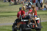 USA Team cart drives down the 1st fairway during the Singles on the Final Day of the Ryder Cup at Valhalla Golf Club, Louisville, Kentucky, USA, 21st September 2008 (Photo by Eoin Clarke/GOLFFILE)