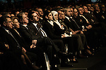 Amine Gemayel, Saad Hariri, Samir et Sethrida Geagea et Bahia Hariri, assistent à la commémoration de l'assassinat de Rafic Hariri, le 14 février 2011 au BIEL à Beyrouth - Amin Gemayel, Saad Hariri, Samir and Sethrida Geagea and Bahia Hariri (Rafik's sister), attend to the commemoration of Rafik Hariri's assassination, on february 14 2011 at the BIEL in Beirut.