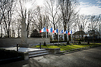 French Flags flies at half-mast in Support &amp; Solidarity with the people of Brussels and the Victims of the terrorist attacks of the 22nd of March 2016.<br />