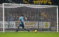 Scott Kashket of Wycombe Wanderers scores his goal making it 10 in 11 games since joining the club during the Sky Bet League 2 match between Notts County and Wycombe Wanderers at Meadow Lane, Nottingham, England on 10 December 2016. Photo by Andy Rowland.