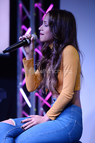 HOLLYWOOD, FL -  DECEMBER 02: Skylar Stecker performs at 97.3 The Hits radio station on December 2, 2015 in Hollywood, Florida.  Credit: mpi04/MediaPunch