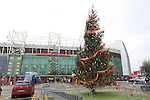 A Christmas tree outside the stadium - Manchester United vs West Ham United - Barclay's Premier League - Old Trafford - Manchester - 05/12/2015 Pic Philip Oldham/SportImage