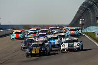 Race Start, Green Flag, #3 JDX Racing, Porsche 991 / 2018, GT3P: Trenton Estep, #1 Kelly-Moss Road and Race, Porsche 991 / 2017, GT3P: Roman De Angelis