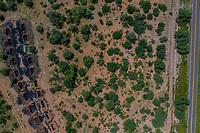 Aerial view of chimney or chacuaco of the sugar mill in El Gavilan Sonora. It is located around the country walk and ranch called El Gavilan, it is part of the Sonora River basin as it passes through the municipality of Hermosillo, Sonora Mexico. Sonora Desert. Sugar. old construction. Architect brick, landscape, rural, travel,<br /> (© Photo: LuisGutierrez / NortePhoto.com)<br /> Vista aerea de chimenea o chacuaco del ingenio azucarero en El Gavilan Sonora. Se encuentra en los alrededores del paseo campestre y rancho llamado el Gavilan, forma parte de la cuenca del Rio Sonora a su paso por el municipio de Hermosillo, Sonora Mexico. Desierto de Sonora.  Azucar. costruccion antigua. Arquitectrua. ladrillo, paisaje, rural, viaje,<br /> (© Photo: LuisGutierrez / NortePhoto.com)