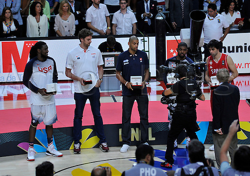 14.09.2014. Madrid, Spain. FIBA World Championship Basketball Final. Best of five world championships Nicolas Batum (France)