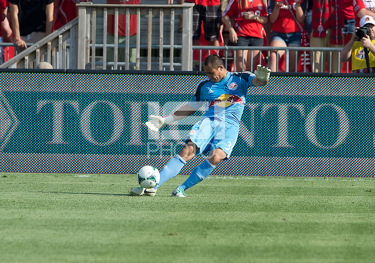 July 20, 2013: New York Red Bulls goalkeeper Luis Robles #31 in action during a game between Toronto FC and the New York Red Bulls at BMO Field in Toronto, Ontario Canada.<br /> The game ended in a 0-0 draw.