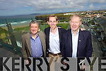 Ryan Tubridy pictured here with Billy Keane and Miche?al O'Muircheartaigh presented his Radio One morning show in front of a large crowd of locals at the Ballybunion Golf hotel on Wednesday.