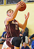 Josh Pismeny #10 of Deer Park drives to the net for two points during a non-league varsity boys basketball game against South Side in the Richard Brown Nassau-Suffolk Challenge at Uniondale High School on Saturday, Jan. 13, 2018.