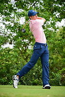 Jordan Spieth (USA) watches his tee shot on 10 during round 3 of the World Golf Championships, Dell Technologies Match Play, Austin Country Club, Austin, Texas, USA. 3/24/2017.<br /> Picture: Golffile | Ken Murray<br /> <br /> <br /> All photo usage must carry mandatory copyright credit (&copy; Golffile | Ken Murray)