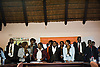 "IBJ Harare Workshop participants sing ""Woyayo"" at the closing of the workshop on May 17."