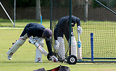 Cricket Scotland - Scotland training at Ayr CC ahead of this week's 4 day Intercontinental Cup match against Namibia - the match begins tomorrow (Tuesday) with an 11am start on each day - in the nets - picture by Donald MacLeod - 05.06.2017 - 07702 319 738 - clanmacleod@btinternet.com - www.donald-macleod.com