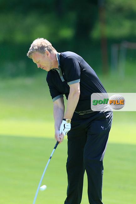 David Moyes (AM) on the 13th during the Pro-Am in The Open De Espana at The PGA Catalunya Resort on Wednesday 14th May 2014.<br /> Picture:  Thos Caffrey / www.golffile.ie