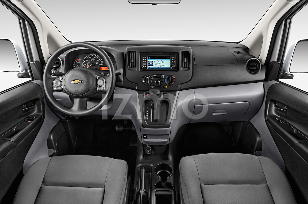 Stock photo of straight dashboard view of2015 Chevrolet City Express LT 5 Door Cargo Van Dashboard