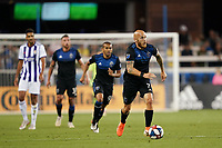 SAN JOSE, CA - JULY 16: Magnus Eriksson #7 of the San Jose Earthquakes during a friendly match between the San Jose Earthquakes and Real Valladolid on July 16, 2019 at Avaya Stadium in San Jose, California.