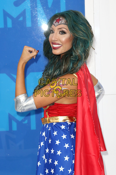 NEW YORK - AUGUST 28: Farrah Abraham arrives at the 2016 MTV Video Music Awards at Madison Square Garden on August 28, 2016 in New York City.<br /> CAP/MPI99<br /> &copy;MPI99/Capital Pictures