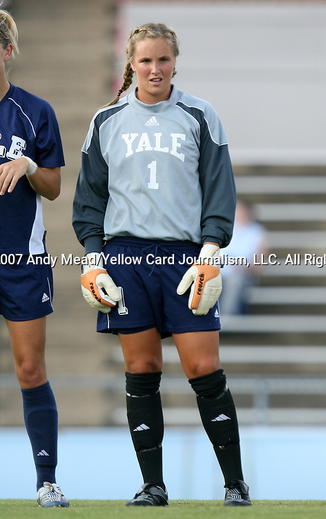 07 September 2007: Yale's Susan Starr. The Duke University Blue Devils defeated the Yale University Bulldogs 1-0 at Fetzer Field in Chapel Hill, North Carolina in an NCAA Division I Women's Soccer game, and part of the annual Nike Carolina Classic tournament.