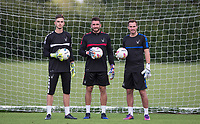 (l-r) Goalkeepers Henry Newcombe, Matt Ingram & Scott Brown during the PEAK Elite Sportswear Photoshoot at Wycombe Training Ground, High Wycombe, England on 1 August 2017. Photo by PRiME Media Images.