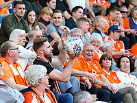A Blackpool fan catches the ball during the second half<br /> <br /> Photographer Alex Dodd/CameraSport<br /> <br /> The EFL Sky Bet League One - Rotherham United v Blackpool - Saturday 5th May 2018 - New York Stadium - Rotherham<br /> <br /> World Copyright &copy; 2018 CameraSport. All rights reserved. 43 Linden Ave. Countesthorpe. Leicester. England. LE8 5PG - Tel: +44 (0) 116 277 4147 - admin@camerasport.com - www.camerasport.com