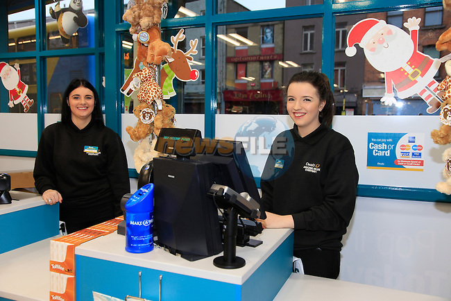 Ciara Kennedy and Tara Whelan at the opening of the Dealz new store in Thomas Street, Dublin.<br /> <br /> Picture Newsfile/Professional Images