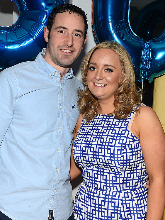 Marc and Alison Hines celebrating their 30th birthdays in Brú. Photo: Colin Bell/pressphotos.ie