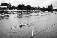 Henley Royal Regatta, Henley on Thames, Oxfordshire, 29 June-3 July 2015.  Thursday  18:37:10   30/06/2016  [Mandatory Credit/Intersport Images]<br /> <br /> Rowing, Henley Reach, Henley Royal Regatta.<br /> <br /> Heat of the Diamond Challenge Sculls, NZL M1X Mahe DRYSDALE