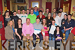 Michael Cullinane Firia, Castleisland seated centre celebrated his 21st birthday with his family and friends in Hughes bar Cordal on Friday night.
