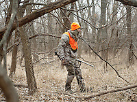 OutdoorLife Editor Andrew McKean (cq) hunting for white tail deer in Superior, Nebraska, Thursday, December 1, 2011. ..Photo by Matt Nager