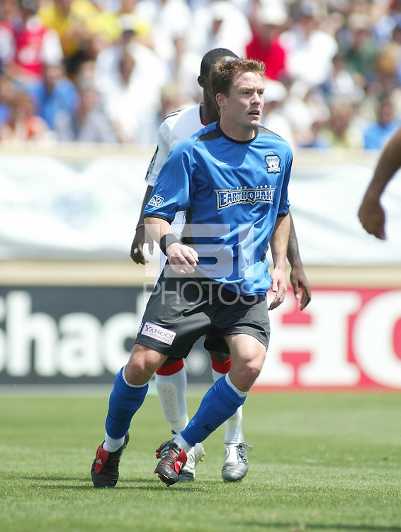 1 May 2004:  Earthquakes Richard Mulrooney in action against DC United at Spartan Stadium in San Jose, California.  Earthquakes and DC United tied 1-1..Mandatory Credit: Michael Pimentel/ISI