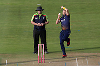 Peter Siddle in bowling action for Essex during Glamorgan vs Essex Eagles, Vitality Blast T20 Cricket at the Sophia Gardens Cardiff on 7th August 2018