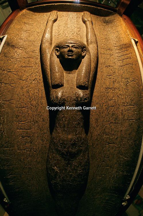 Sky goddess Nut on sarcophagus of Pharaoh Merneptah, Ramses II's son, Egyptian Museum, Cairo