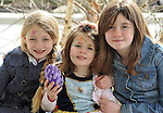 REPRO FREE: EASTER SUNDAY EGG HINT TRALEE:.Cousins, Debra, Abbie and Ciara Centy from Causeway pictured at the Cadbury Easter Egg Hunt in the Ballygarry House Hotel & Spa in Tralee on Easter Sunday..Picture by Don MacMonagle