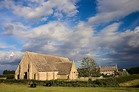 Great Coxwell Barn, built 1300, owned by the National Trust, in The Cotswolds, Oxfordshire, UK
