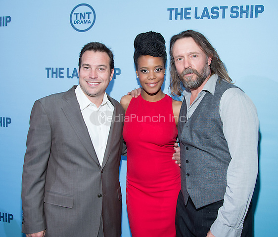 WASHINGTON, DC - JUNE 4: Writer Hank Steinberg and actors Christina Elmore and John Pyper-Ferguson attends The Last Ship premiere screening, a partnership between TNT and the U.S. Navy on June 4, 2014 in Washington, D.C. Photo Credit: RTNMelvin/MediaPunch.