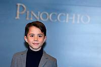Federico Ielapi as Pinocchio<br /> Rome December 12th 2019. Pinocchio Photocall in Rome<br /> Foto Samantha Zucchi Insidefoto