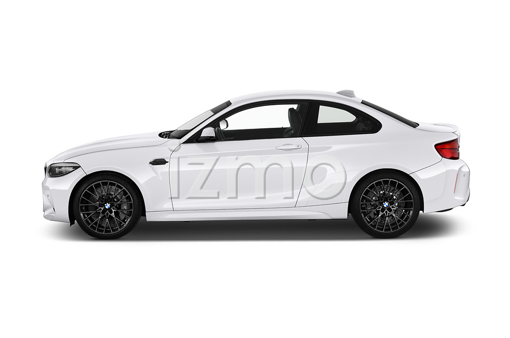 Car driver side profile view of a 2019 BMW m2 competition Base 2 Door Coupe