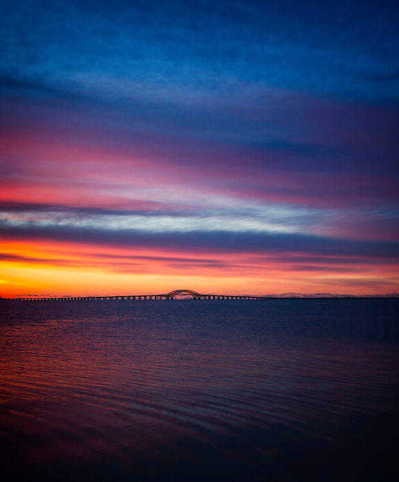 Good Morning March - Sunrise Over the Robert Moses Causeway Bridge