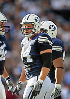 Sept. 19, 2009; Provo, UT, USA; BYU Cougars defensive lineman (84) Jan Jorgensen against the Florida State Seminoles at LaVell Edwards Stadium. Florida State defeated BYU 54-28. Mandatory Credit: Mark J. Rebilas-